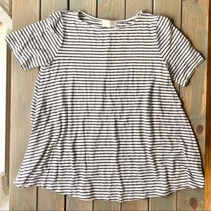Hourglass Lilly Black & White Striped Top
